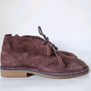 Hush Puppies Leather Suede Cushioned Booties